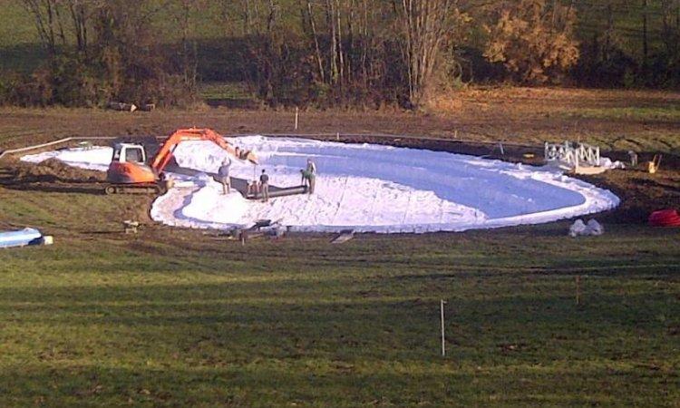 Création d'étang à Pontcharra